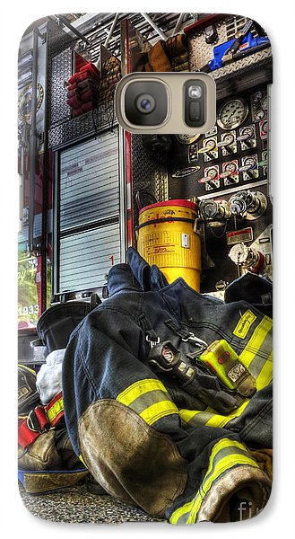 Fireman - Always Ready For Duty Galaxy S7 Case by Lee Dos Santos
