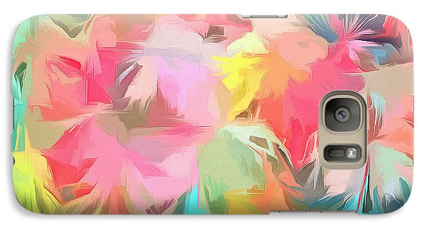 Fireworks Floral Abstract Square Galaxy Case by Edward Fielding