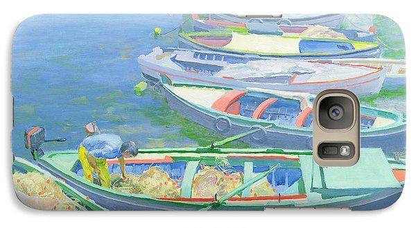 Fishing Boats Galaxy S7 Case by William Ireland