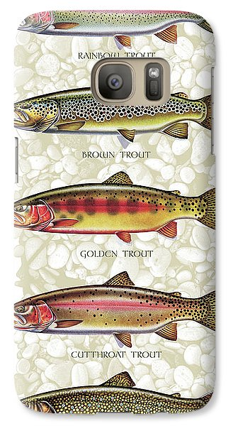 Five Trout Panel Galaxy S7 Case by JQ Licensing