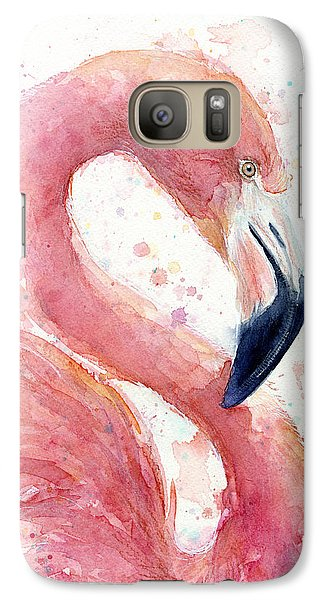 Flamingo - Facing Right Galaxy S7 Case by Olga Shvartsur
