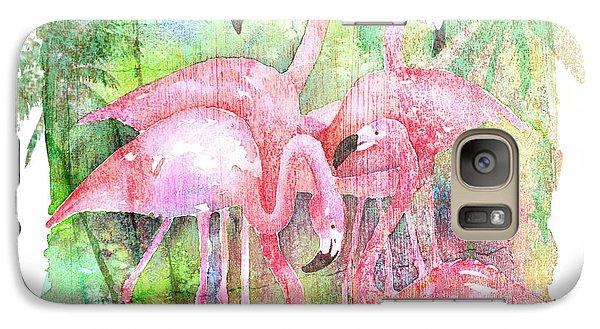 Flamingo Five Galaxy Case by Arline Wagner