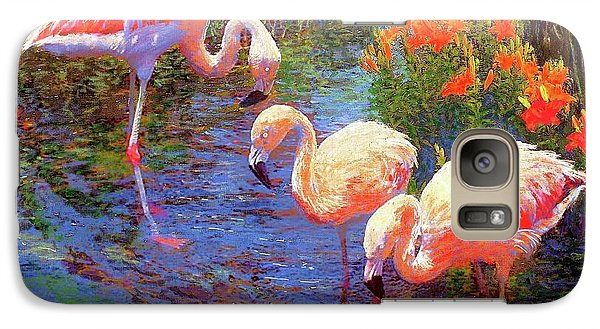Flamingos, Tangerine Dream Galaxy S7 Case by Jane Small