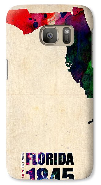 Florida Watercolor Map Galaxy S7 Case by Naxart Studio