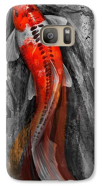 Flowing Koi Galaxy S7 Case by Steve Goad