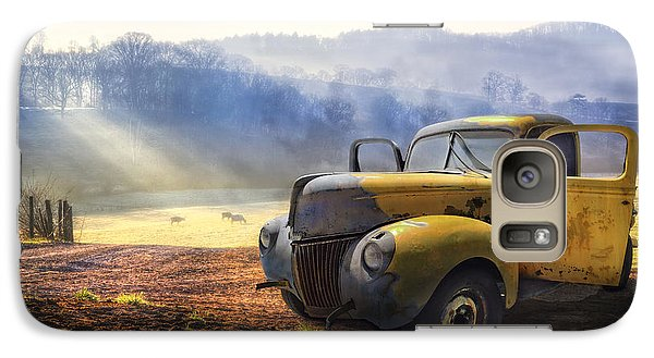 Ford In The Fog Galaxy S7 Case by Debra and Dave Vanderlaan