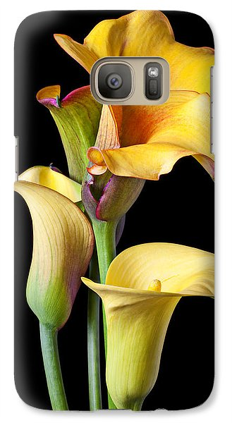 Four Calla Lilies Galaxy Case by Garry Gay