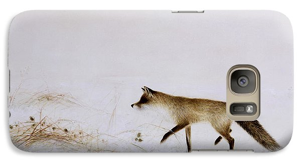 Fox In Snow Galaxy Case by Jane Neville