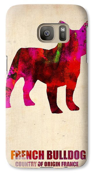 French Bulldog Poster Galaxy S7 Case by Naxart Studio