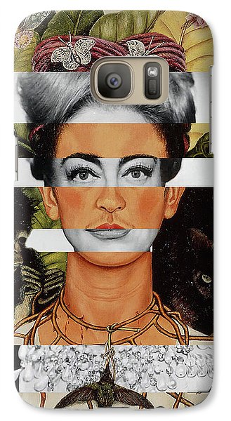 Frida Kahlo And Joan Crawford Galaxy S7 Case by Luigi Tarini
