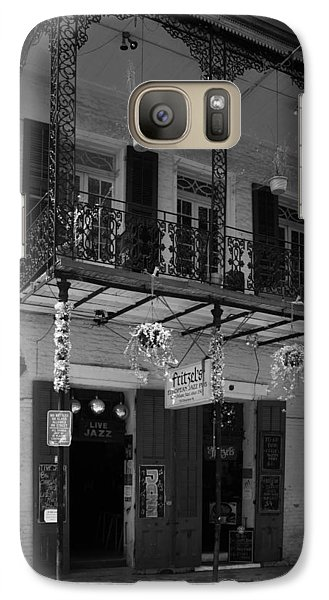 Fritzel's European Jazz Pub In Black And White Galaxy S7 Case by Chrystal Mimbs