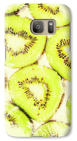 Full Frame Shot Of Fresh Kiwi Slices With Seeds Galaxy S7 Case by Jorgo Photography - Wall Art Gallery