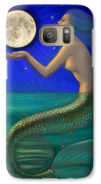 Full Moon Mermaid Galaxy Case by Sue Halstenberg