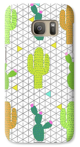 Funky Cactus Galaxy S7 Case by Nicole Wilson
