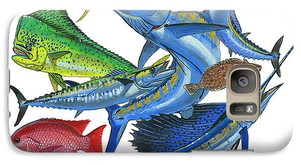 Gamefish Collage Galaxy S7 Case by Carey Chen