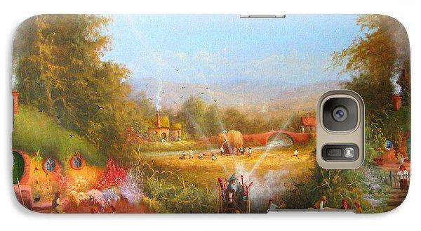 Gandalf's Return Fireworks In The Shire. Galaxy Case by Joe  Gilronan