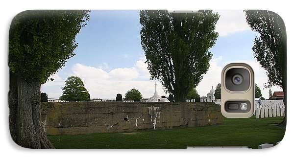Galaxy S7 Case featuring the photograph German Bunker At Tyne Cot Cemetery by Travel Pics