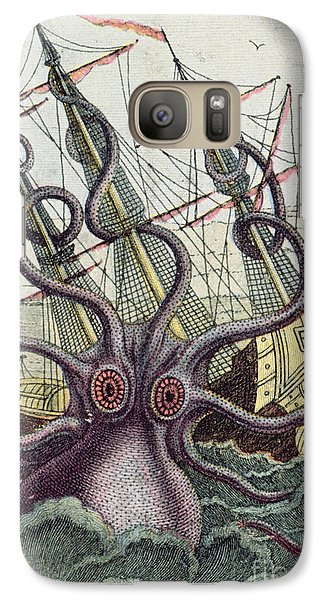 Giant Octopus Galaxy Case by Denys Montfort