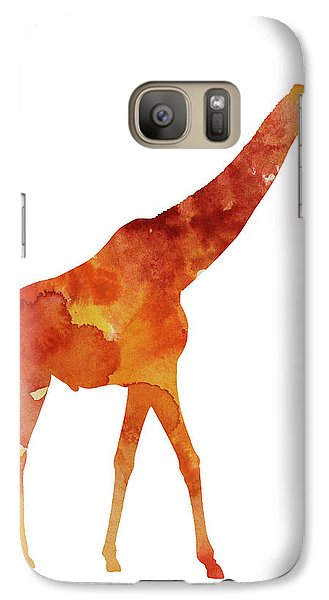 Giraffe Minimalist Painting For Sale Galaxy Case by Joanna Szmerdt