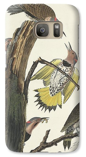 Gold-winged Woodpecker Galaxy S7 Case by John James Audubon