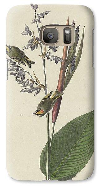 Golden-crested Wren Galaxy S7 Case by John James Audubon