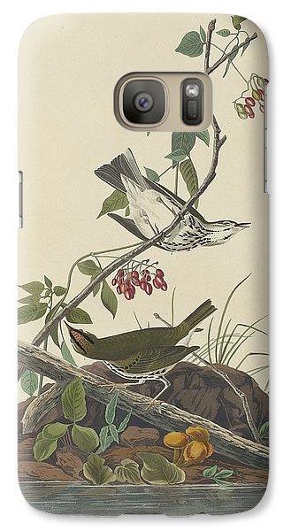 Golden-crowned Thrush Galaxy S7 Case by John James Audubon