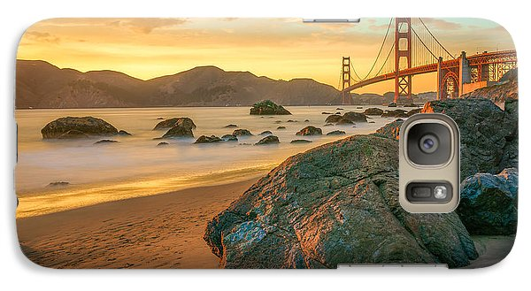 Golden Gate Sunset Galaxy Case by James Udall