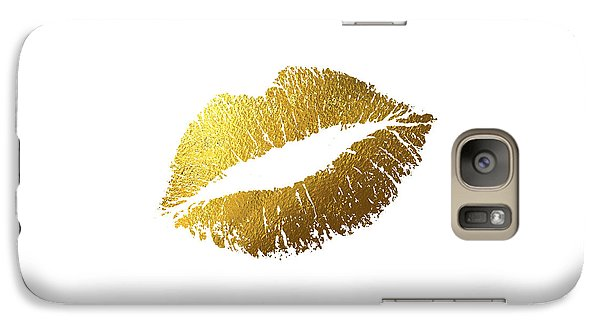 Gold Lips Galaxy Case by Bekare Creative