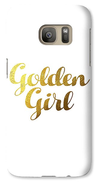 Golden Girl Typography Galaxy Case by Bekare Creative