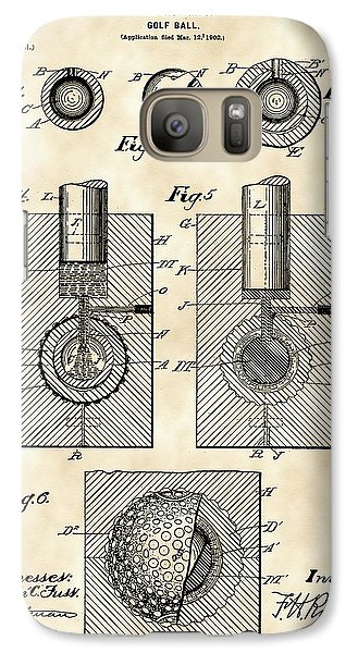 Golf Ball Patent 1902 - Vintage Galaxy S7 Case by Stephen Younts
