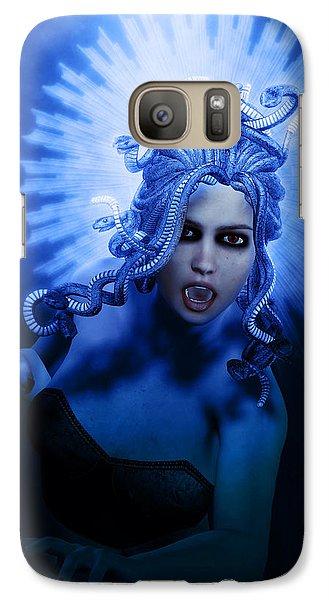 Gorgon Blue Galaxy S7 Case by Joaquin Abella