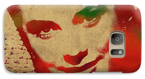 Grace Kelly Watercolor Portrait Galaxy Case by Design Turnpike