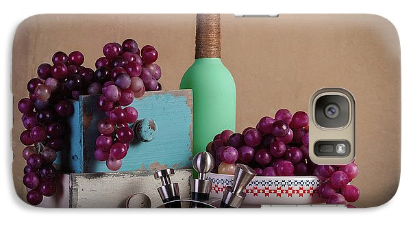 Grapes With Wine Stoppers Galaxy S7 Case by Tom Mc Nemar