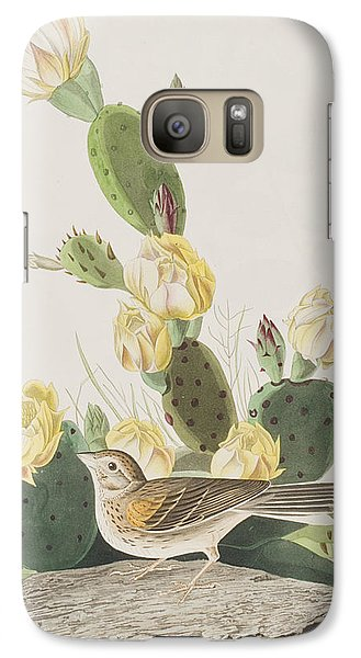 Grass Finch Or Bay Winged Bunting Galaxy S7 Case by John James Audubon