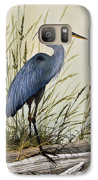 Great Blue Heron Splendor Galaxy Case by James Williamson