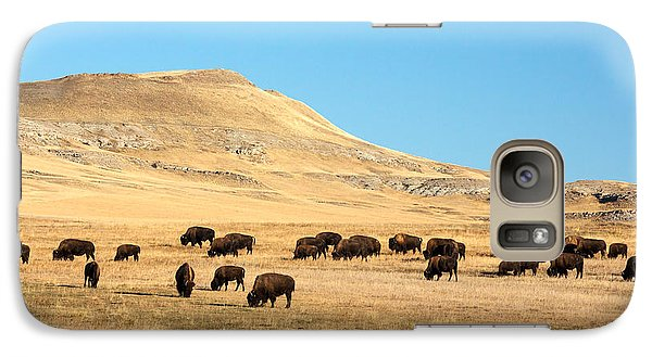 Great Plains Buffalo Galaxy Case by Todd Klassy