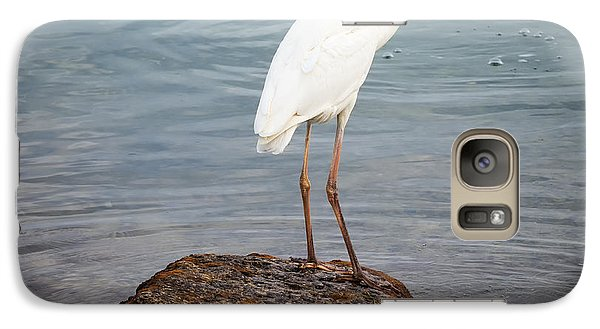 Great White Heron With Fish Galaxy Case by Elena Elisseeva