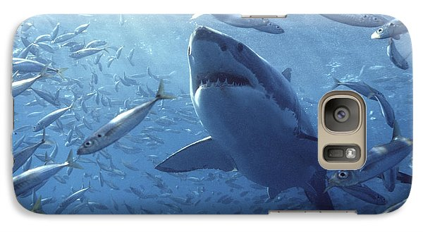 Great White Shark Carcharodon Galaxy S7 Case by Mike Parry