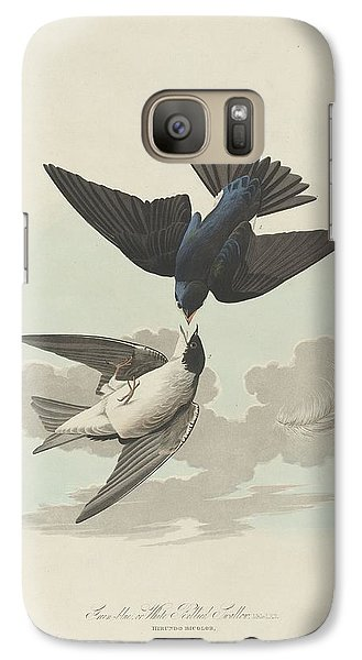 Green-blue Or White-bellied Swallow Galaxy S7 Case by John James Audubon