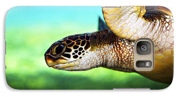 Green Sea Turtle Galaxy Case by Marilyn Hunt
