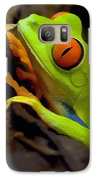 Green Tree Frog Galaxy S7 Case by Sharon Foster