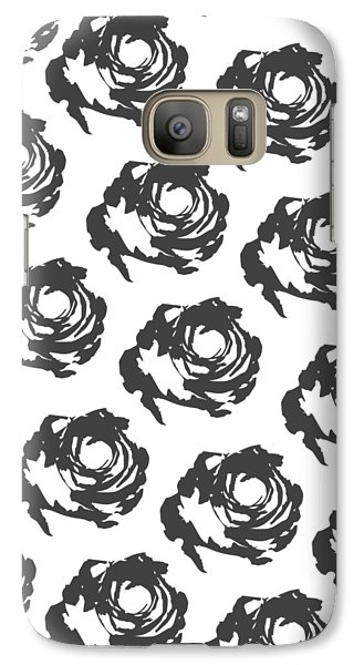 Grey Roses Galaxy Case by Cortney Herron