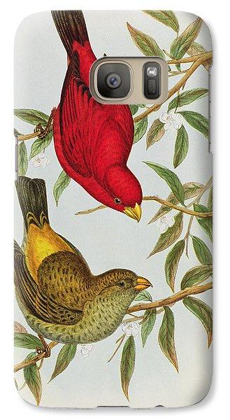 Haematospiza Sipahi Galaxy S7 Case by John Gould