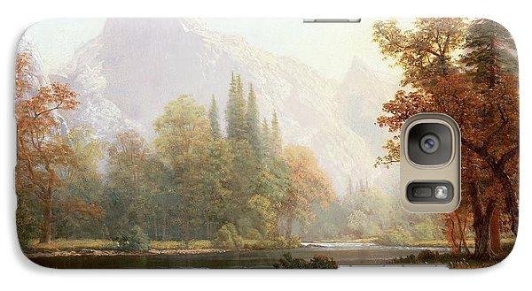 Half Dome Yosemite Galaxy S7 Case by Albert Bierstadt