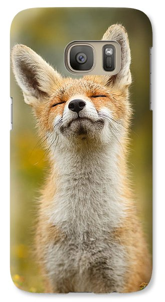 Happy Fox Galaxy Case by Roeselien Raimond