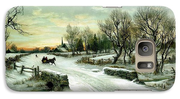 Galaxy Case featuring the painting Happy Holidays by Travel Pics