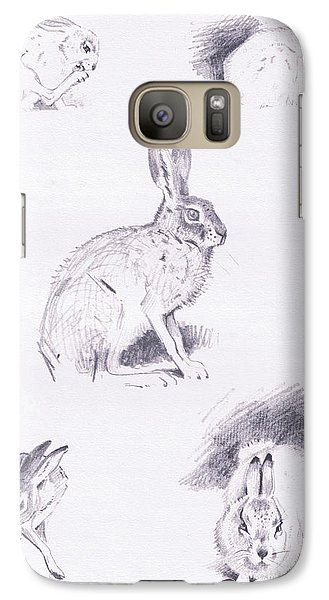 Hare Studies Galaxy S7 Case by Archibald Thorburn