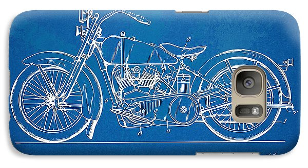 Harley-davidson Motorcycle 1928 Patent Artwork Galaxy S7 Case by Nikki Marie Smith