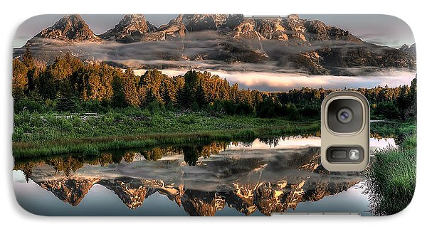 Hazy Reflections At Scwabacher Landing Galaxy S7 Case by Ryan Smith