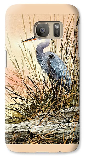Heron Sunset Galaxy Case by James Williamson
